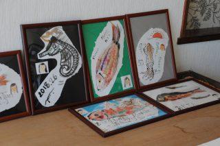 墨絵アート体験の写真