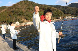 魚釣り体験の写真